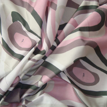 EMILIO PUCCI made in Italy authentic 100% cotton fabric for dress, shirt, skirt 200 x 154 cm