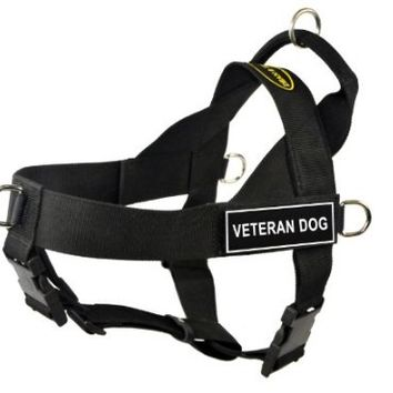 Dean & Tyler Universal No Pull 36-Inch to 47-Inch Dog Harness, X-Large, Veteran Dog, Black