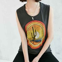 Midnight Rider Cactus Sunset Muscle Tee