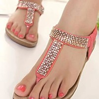 Bling Rhinestone Thong Sandals