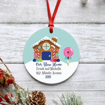 New Home Gingerbread House Christmas Ornament