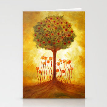 positive energy from the tree Stationery Cards by Viviana González