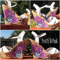 Custom Sugar Skull wedges