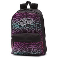 Vans Leopard Ombre Realm Backpack (Black/Rouge Red)