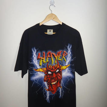 Vintage Slayer tshirt 1990s slayer Deadstock Winterland Heavy Trash Metal T Shirt