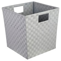 Decorative Basket Cr Polypropylene Gray Birch Square