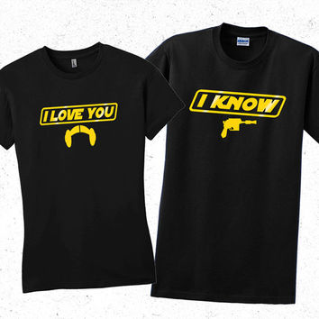 Star wars Princess Leia women's t shirt. I love you Valentines day shirt