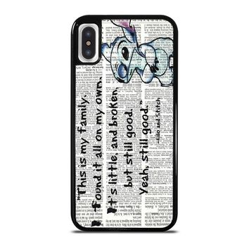 LILO AND STITCH QUOTES Disney iPhone X Case
