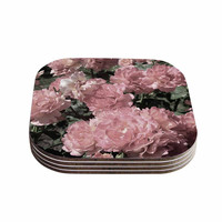 "Susan Sanders ""Blush Pink Flowers"" Floral Photography Coasters (Set of 4)"