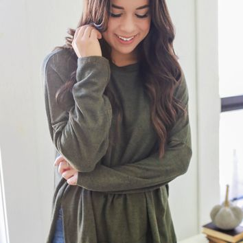 Sweet Autumn Sweater - Olive