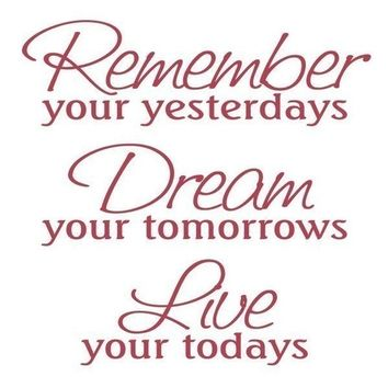 Remember Dream Live Vinyl Wall Decal • Inspirational Wall Sticker • Office Den Family Room Decor • Nostalgic Wall Decal