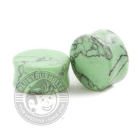 Green Howlite Stone Plugs