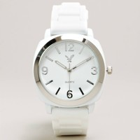 AEO White Rubber Watch   American Eagle Outfitters