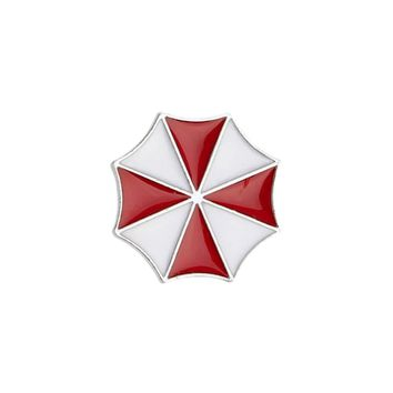2017 Evil Red Umbrella Brooch Hot game Resident Evil Evil Red Umbrella Brooch Emblem Badge Jewelry for friend Gift
