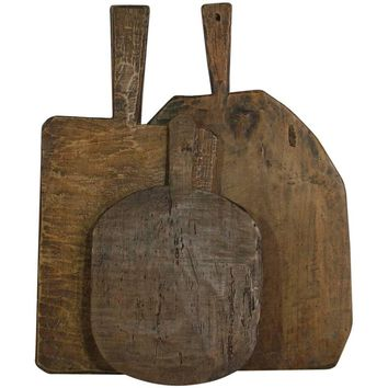 Collection of Three Rare French 19th Century, Wooden Chopping/Cutting Boards
