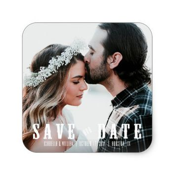Dreamlike Rustic Save the Date | Save our Date Square Sticker
