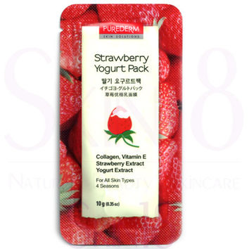 PUREDERM Strawberry Yogurt Pack (Wash-Off Mask)
