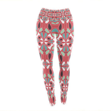 "Miranda Mol ""Stained Glass Pink"" Yoga Leggings"