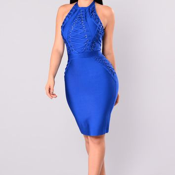 Peggy Bandage Dress - Royal