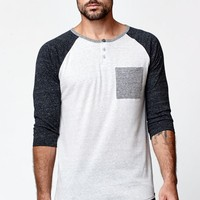 On The Byas Francis Raglan Baseball T-Shirt - Mens Shirt - Gray