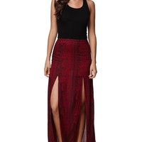 Billabong Never Look Back Skirt - Womens Skirt - Maroon