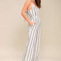 Chesapeake White Striped Wide-Leg Jumpsuit