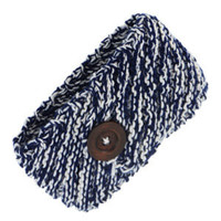 Navy and Ivory Knit Head Wrap