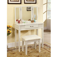Mirror Mirror Modern Single Drawer Vanity with Padded Stool—Buy Now!
