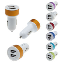 the New Car Accessory 5V 2.1A 1A Dual USB Charger For iPhone5 6 Nokia Sony LG GPS car charger