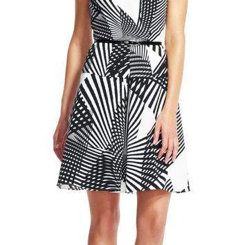 Adrianna Papell - AP1D100582 Multi-Printed A-line Dress