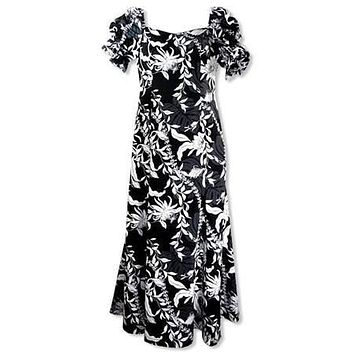 punahou black hawaiian aikane dress