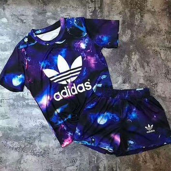 adidas short set womens