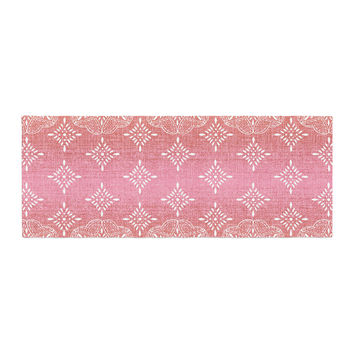 "Suzie Tremel ""Medallion Red Ombre"" Pink Bed Runner"
