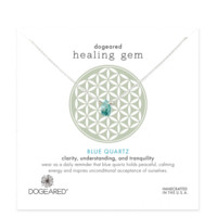 "dogeared ""Lasting Healing Gems"" blue quartz necklace"