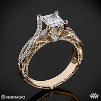 20k Rose Gold Verragio Pave Twist Diamond Engagement Ring
