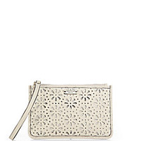 Kate Spade New York - Perforated Bee Leather Wristlet - Saks Fifth Avenue Mobile