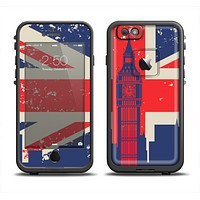 The Vintage London England Flag Apple iPhone 6/6s LifeProof Fre Case Skin Set