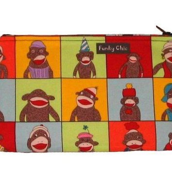 Sock Monkey Avatars Large Clutch by FunkyChicDesigns on Etsy