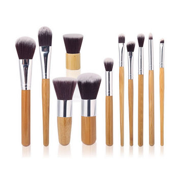 2016 Hot Professional 11pcs Beauty Makeup Brushes Set Kit Premium Synthetic Kabuki Cosmetic Blending Blush Eyeshadow Concealer