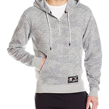 Champion LIFE Men's French Terry Qtr Zip Pullover Print