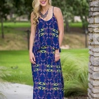 Savannah Summer Maxi - Navy | Dresses | Kiki LaRue