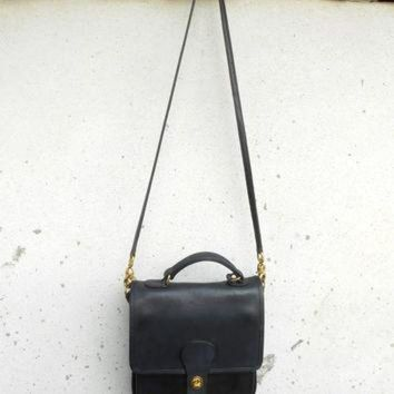 Vintage Coach Station K8g-5130 Navy Leather Messenger Bag Shoulder Bag Crossbody B - Beauty Ticks