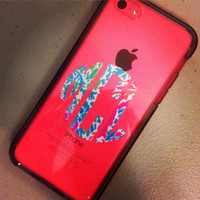 Lilly Pulitzer Inspired Indoor Monogram Decal