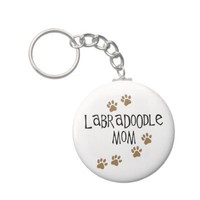 Labradoodle Mom Keychains from Zazzle.com