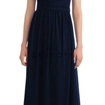 Bill Levkoff 1114 Illusion Chiffon Floor Length Bridesmaid Dress