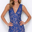 Miraculous Mirage Cobalt Blue Lace Dress