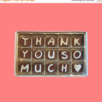 Appreciation Gift for Client Boss School Teacher Coworker Customer Employee Clients Man Woman Cute Thank You So Much Cubic Chocolate Letter