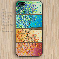 iPhone 5s 6 case collage Dream catcher colorful 4 seasons tree art phone case iphone case,ipod case,samsung galaxy case available plastic rubber case waterproof B442