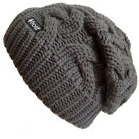 Frost Hats Winter Slouchy Beanie Cable Hat Knitted Hat Frost Hats M-179:Amazon:Clothing