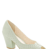 Bait Footwear Pastel Restaurant Reviewer Heel in Mint